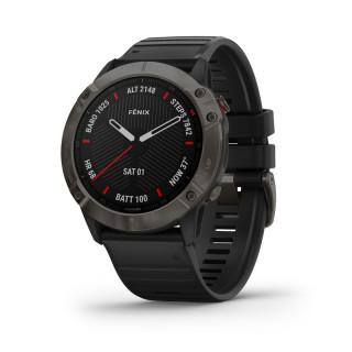 GARMIN Fenix 6X Pro Sapphire Carbon DLC szürke, fekete szilikon szíjjal 010-02157-11 Mobil