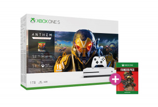 Xbox One S 1TB + Anthem + Apex Legends Founders Pack XBOX ONE