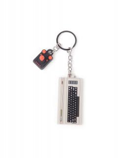 THE C64 - Console & Joystick 3D Kulcstartó AJÁNDÉKTÁRGY