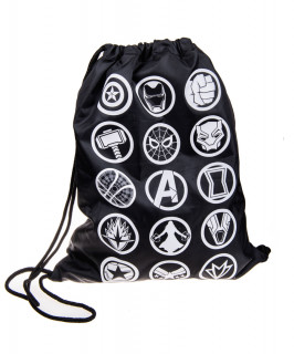 MARVEL - Infinity War Badges Gym Bag - Good Loot - tornazsák AJÁNDÉKTÁRGY