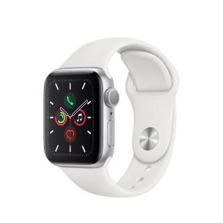 Apple Watch Series 5 GPS, 40mm Ezüst alumíniumtok fehér sportszíjjal Mobil