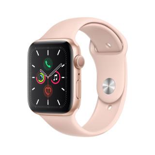 Apple Watch Series 5 GPS, 44mm Arany alumíniumtok rózsakvarcszínű sportszíjjal  Mobil