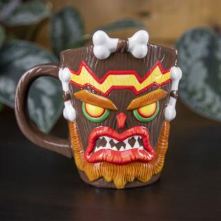 CRASH BANDICOOT - Shaped 3D Mug Uka Uka Crash Bandicoot - Bögre AJÁNDÉKTÁRGY