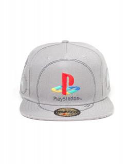 PlayStation - Silver Logo Snapback Sapka