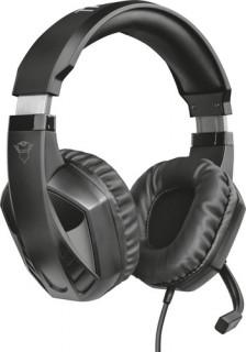 Trust Fejhallgató - GXT 412 Celaz (2m kábel; mikrofon; hangerőszabályzó; 3.5mm TRRS jack + Y kábel; fekete) PC