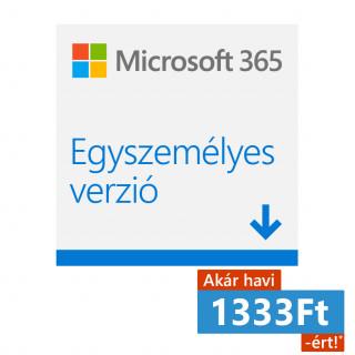 Microsoft 365 Egyszemélyes verzió (Letölthető) (QQ2-00012) PC
