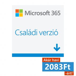 Microsoft 365 Családi verzió (Letölthető) (6GQ-00092) PC