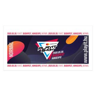 PlayIT Show Budapest 2020. Nyár - Normál Napijegy Ajándéktárgyak