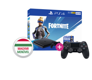 PlayStation 4 (PS4) Slim 500GB + Fortnite Neo Versa Bundle + PS4 Sony Dualshock 4 Kontroller