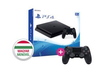 Playstation 4 (PS4) Slim 500GB + PS4 Sony Dualshock 4 Kontroller