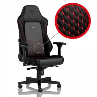 Noblechairs HERO BŐR Fekete/Piros Gamer szék (NBL-HRO-RL-BRD) (Bontott)