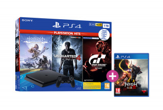 PlayStation 4 (PS4) Slim 1TB + Horizon Zero Dawn Complete Edition + Uncharted 4 + Gran Turismo Sport + Nioh 2 PS4