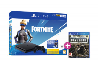 PlayStation 4 (PS4) Slim 500GB + Fortnite Neo Versa Bundle + Days Gone PS4