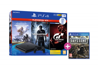 PlayStation 4 (PS4) Slim 1TB + Horizon Zero Dawn Complete Edition + Uncharted 4 + Gran Turismo Sport + Days Gone PS4