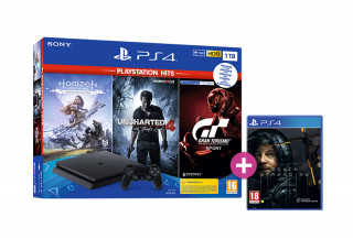 PlayStation 4 (PS4) Slim 1TB + Horizon Zero Dawn Complete Edition + Uncharted 4 + Gran Turismo Sport + Death Stranding PS4