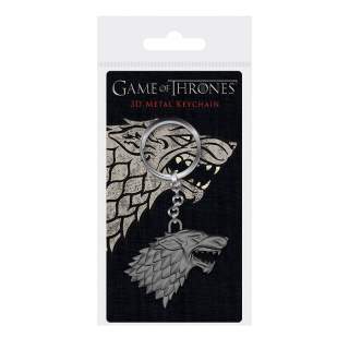 Game Of Thrones 3D Metal Keychain Stark Sigil 6 cm - Fém kulcstartó