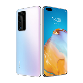 Huawei P40 Pro Dual SIM 256GB Jeges Fehér (5G) Mobil