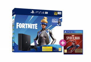 PlayStation 4 (PS4) Pro 1TB + Fortnite Neo Versa Bundle + Spider-Man Game of the Year Edition PS4