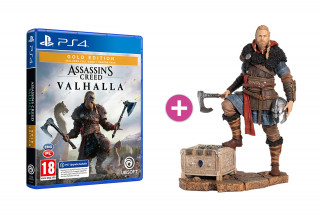 Assassin's Creed Valhalla Gold Edition + Eivor szobor PS4