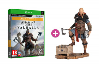 Assassin's Creed Valhalla Gold Edition + Eivor szobor XBOX ONE