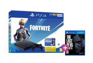 PlayStation 4 (PS4) Slim 500GB + Fortnite Neo Versa Bundle + Fortnite Neo Versa Bundle + The Last of Us Part II PS4