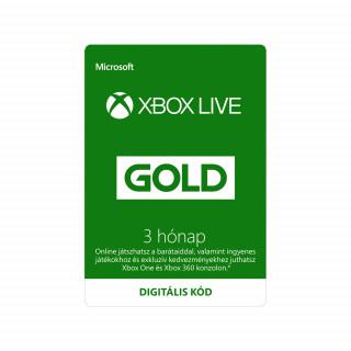 Kedvezményes Xbox Live Gold 3 hónapos előfizetés (DIGITÁLIS KÓD) (Letölthető) XBOX ONE
