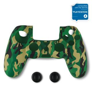 Spartan Gear - Controller Silicon Skin Cover and Thump Grips Green Camo