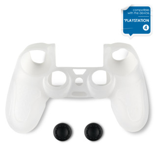 Spartan Gear - Controller Silicon Skin Cover and Thump Grips Transparent