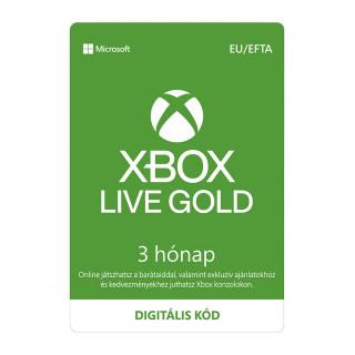 Xbox Live Gold 3 hónapos előfizetés (letölthető)