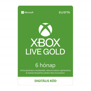 Xbox Live Gold 6 hónapos előfizetés (letölthető)