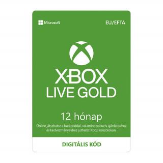 Xbox Live Gold 12 hónapos előfizetés (letölthető)