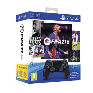 Playstation 4 (PS4) Dualshock 4 kontroller (Fekete) + FIFA 21