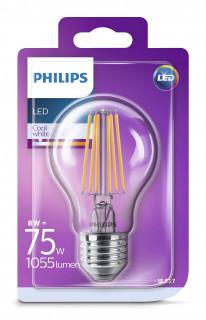 PHILIPS Consumer LEDClassic bulb 8-75W A60 E27 840 CL ND Otthon