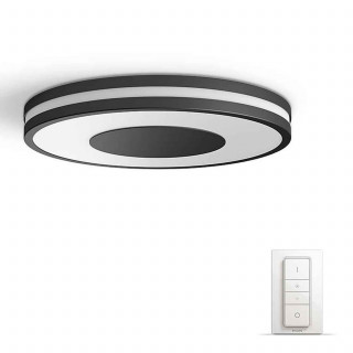 PHILIPS Being Hue ceiling lamp black 1x32W + DIMSwitch 3261030P7 Otthon