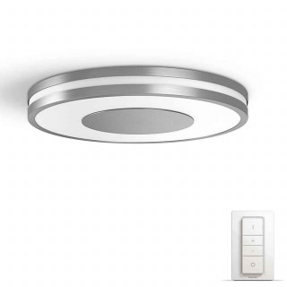 PHILIPS Being Hue ceiling lamp aluminium 1x32W + DIMSwitch 3261048P7 Otthon