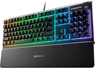 SteelSeries Apex 3 UK fekete gamer billentyűzet