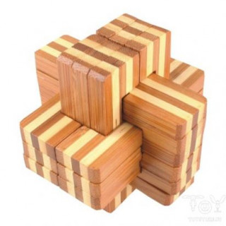 Logikai kereszt 6 részes (nagy, bambusz) Ajándéktárgyak