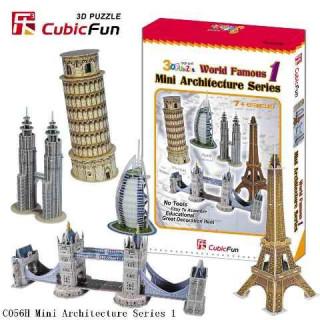 3D puzzle - Mini építészeti sorozat 1. Ajándéktárgyak