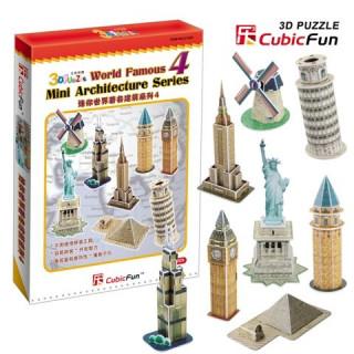 3D puzzle - Mini építészeti sorozat 4. Ajándéktárgyak