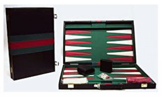 Backgammon, 46x30 cm-es műbőr koffer - 605503 Ajándéktárgyak
