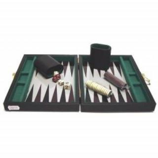 Backgammon, 23x17 cm fekete műbőr - 604066 Ajándéktárgyak