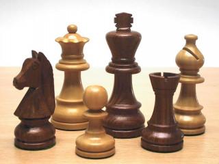Sakkfigura készlet fából, 93 mm,súlyozatlan, Staunton 6 - 650529 Ajándéktárgyak