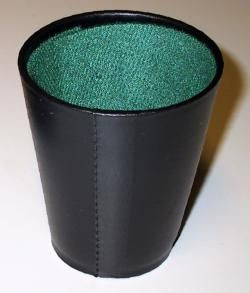 Kockavető pohár, fekete 730603 Ajándéktárgyak