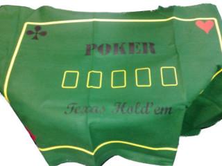 Póker Terítő (filc) 180x90cm zöld 759860 Ajándéktárgyak