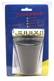 Kockavető pohár 5 dobókockával - 730604 Ajándéktárgyak