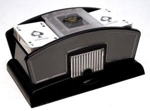 Elektromos kártyakeverőgép, műanyag - 750359 Ajándéktárgyak