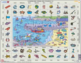 Larsen maxi puzzle 70 db-os Tanuljunk angolul! - Tengerpart EN3 Ajándéktárgyak