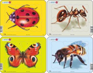 Larsen mini puzzle 5 db-os Rovarok Z2 Ajándéktárgyak