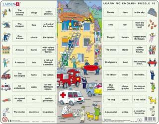 Larsen maxi puzzle 54 db-os Tanuljunk angolul! - Tűzoltás EN10 Ajándéktárgyak