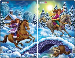 Larsen midi puzzle 18 db-os Hercegnők - U9 Ajándéktárgyak